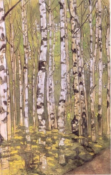 Н.К. рерихэ Березы. 1905 г.