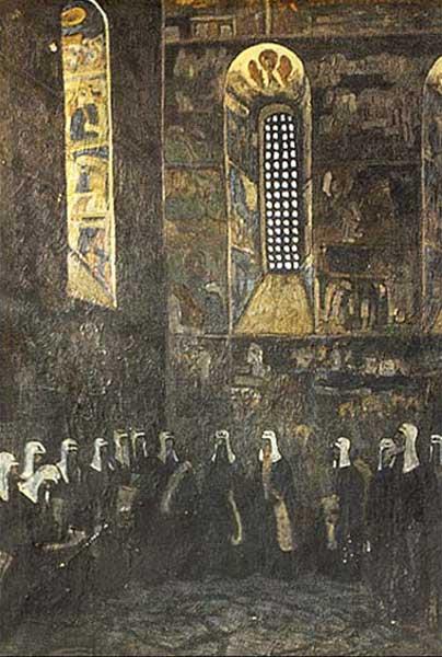 Н.К. Рерих. Владыки нездешние. 1907 г.